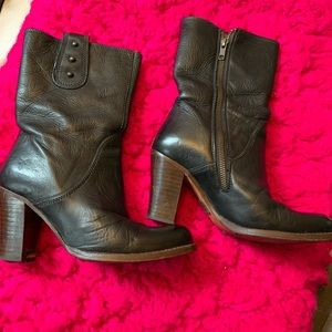 Frye Black hell boots